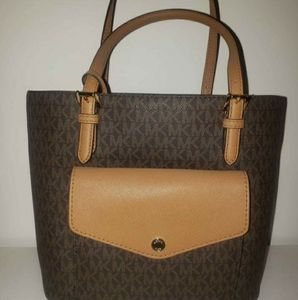 Michael kors Jet set tote monogram real leather